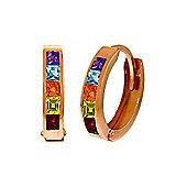 QP Jewellers 1.0ct Gemstone Huggie Earrings in 14K Rose Gold