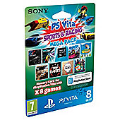 PS Vita Sports & Racing MEGA Pack - 8GB Memory Card with 8 Games