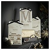 Tesco Luxury Santa Town Scenes Christmas Cards, 6 Pack