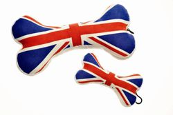House of Paws Union Jack Bone Dog Toy - Small (15.24cm H)