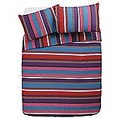 Tesco Multi Stripe Duvet Cover And Pillowcase Set, King Size
