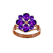 QP Jewellers 2.43ct Amethyst Rafflesia Ring in 14K Rose Gold