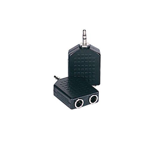 2 Stereo Jack to Mini Stereo Jack Adaptor