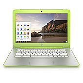 "HP 14-x021na 14"" Chromebook (NVIDIA Tegra K1 Processor, 2GB RAM, 16GB eMMC, Google Chrome) - White/Neon Green"
