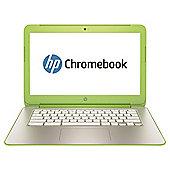 "HP 14-x021na 14"" Chromebook (NVIDIA Tegra K1 Processor, 2GB RAM, 16GB eMMC, Google Chrome) - White/Neon Green"