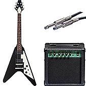 Beginner Flying V Electric Guitar Pack