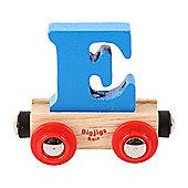 Bigjigs Rail Rail Name Letter E (Blue)