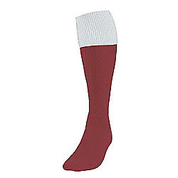 Precision Training Turnover Football Socks Mens Maroon/White
