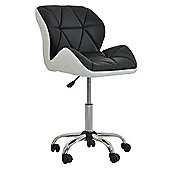 Peris Office Chair Black with White Under