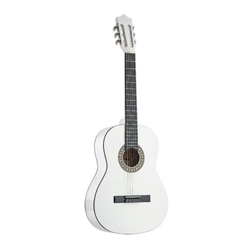 Rocket C542 Full Size Classical Spanish Guitar - White