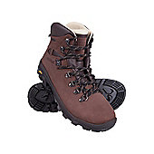 Excalibur Womens Nubuck Leather Waterproof Hiking Vibram Soles Walking Boots - Brown