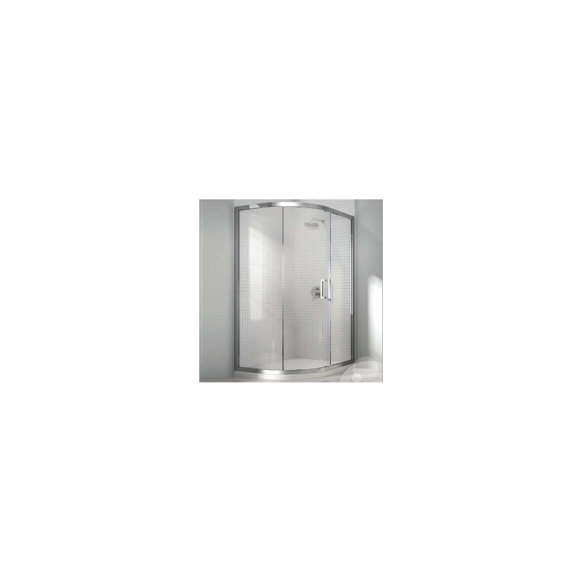 Merlyn Vivid Eight Offset Quadrant Shower Enclosure, 900mm x 760mm, Left Handed, Low Profile Tray, 8mm Glass at Tesco Direct