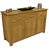 Oakland Chunky Oak Large 3 Door 3 Drawer Sideboard