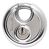 Sterling 90mm Stainless Steel Disc Padlock