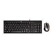 V7 CK0A1 Standard Combo USB Keyboard (Black) and Optical 1000 dpi Mouse (Black/Silver) - UK English CBID:2301819