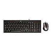 V7 CK0A1 Standard Combo USB Keyboard (Black) and Optical 1000 dpi Mouse (Black/Silver) - UK English CBID:2301819