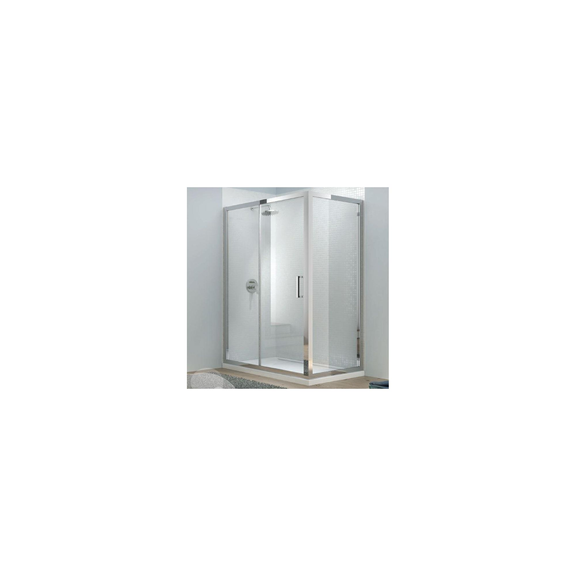 Merlyn Vivid Eight Sliding Shower Door, 1400mm Wide, 8mm Glass at Tesco Direct