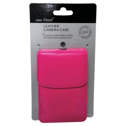 Tesco Finest Leather Camera Case, Pink