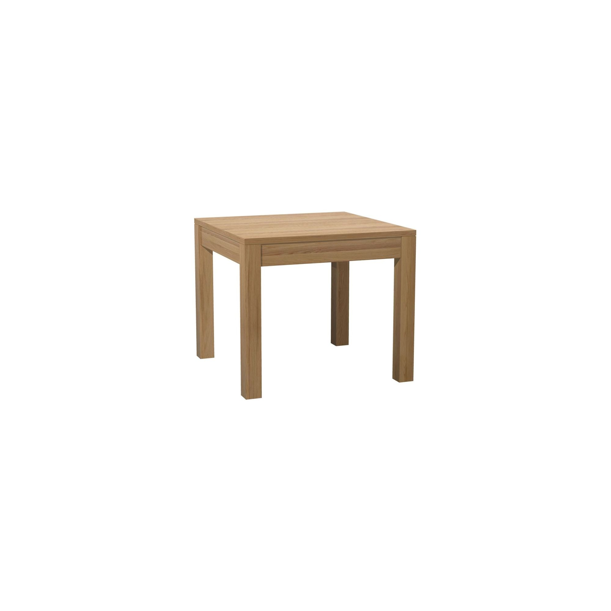 Kelburn Furniture Milano Small Square Solid Oak Dining Table in Clear Satin Lacquer