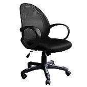 Alphason Jordan Black Mesh Operator Chair