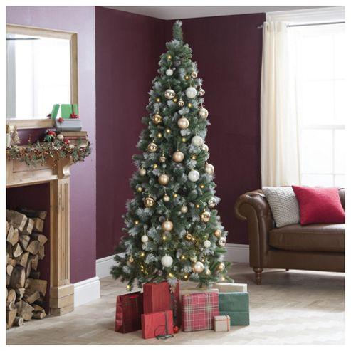 Buy Festive Prelit Rhode Island Slim Christmas Tree, 7ft ...