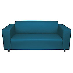 Stanza Medium Sofa Leather Effect Teal