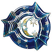Iron Stop Designer Moon & Stars Wind Spinner 10in