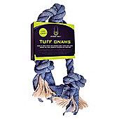 Hyper Pet Denim / Sisal 2 Knot Rope Bone Dog Toy - Medium