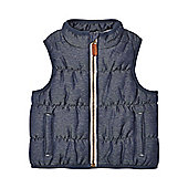 Mothercare Twill Padded Gilet Jacket Size 9-12 months