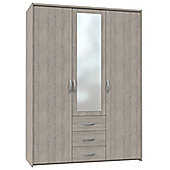 Altruna Now 3 Doors Wardrobe - Oak