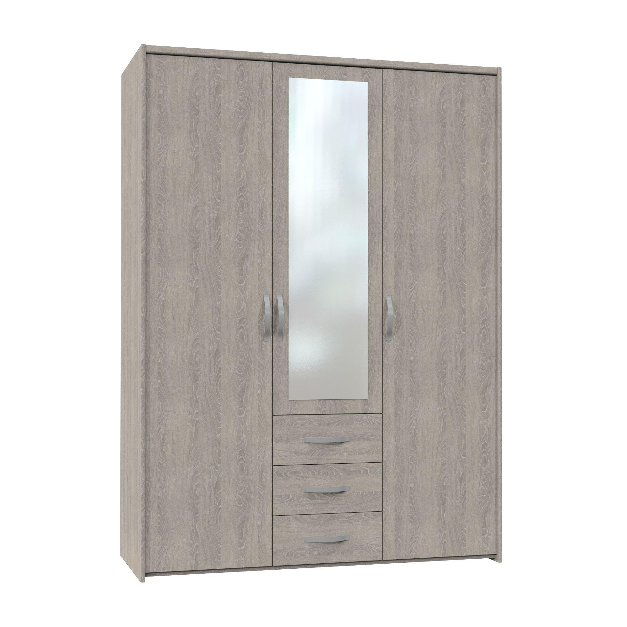 Altruna Now 3 Doors Wardrobe - Oak at Tesco Direct