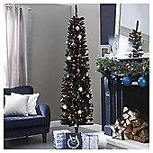 6.5ft Slim Christmas Tree, Black