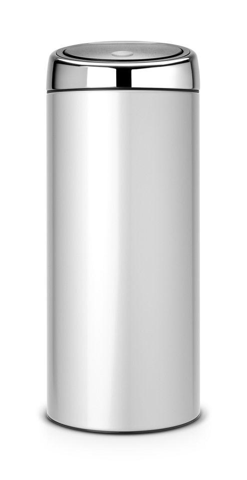 Buy brabantia metallic grey 30l touch top bin from our for Grey bathroom bin