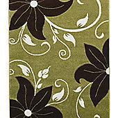 Oriental Carpets & Rugs Verona OC15 Green/Brown Rug - 80cm x 150cm