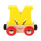 Bigjigs Rail Rail Name Letter M (Yellow)