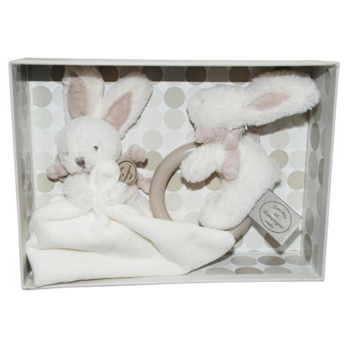 Doudou et Compagnie Brown Bonbon Doudou & Rattle Gift