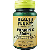 Health Plus Vitamin C 500Mg 30 Veg Tablets