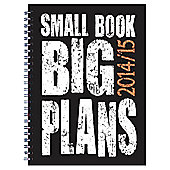 BTS Polyprop Small Book Big Plans 14/15 Diary A6 WTV