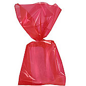 Red Large Cellophane Party Bags - 29cm