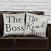 The Real Boss Throw Cushions