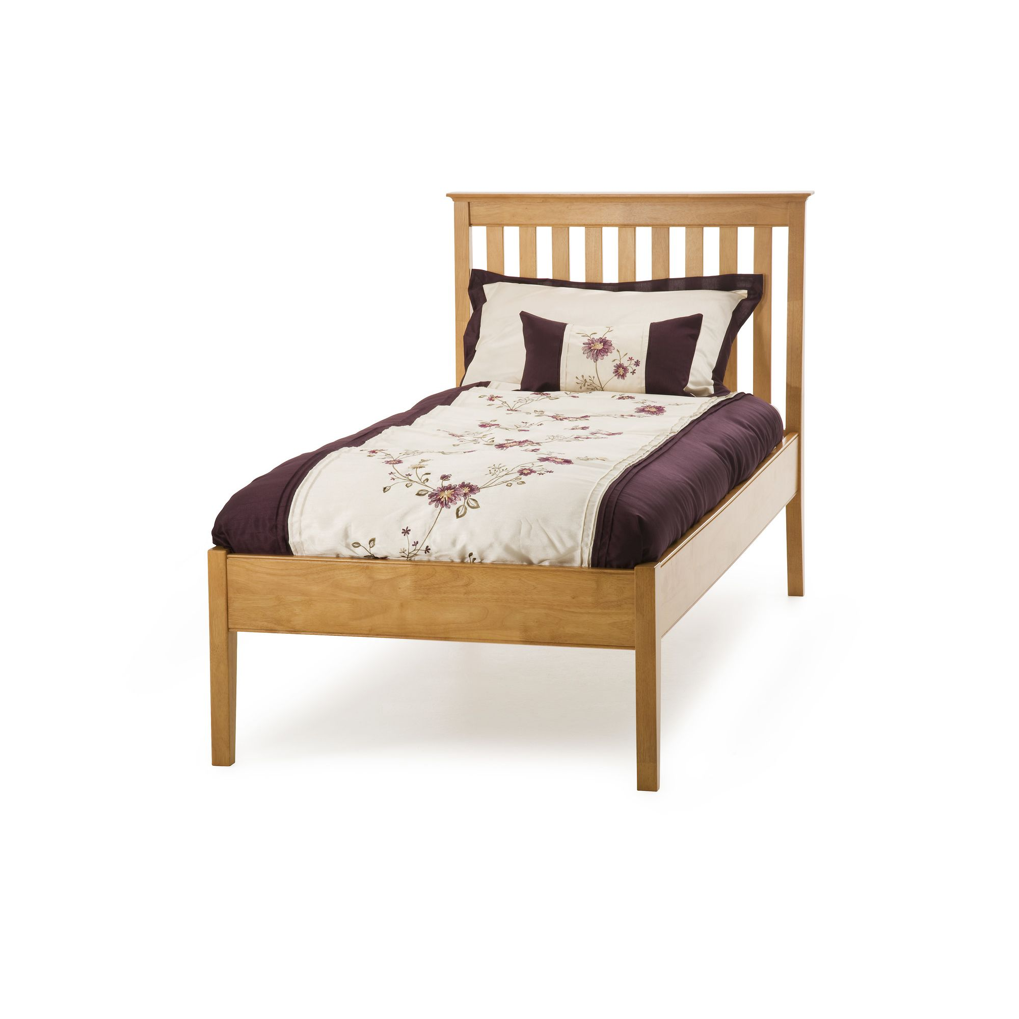 Serene Furnishings Grace Single Guest Bed with Low Foot End - Golden Cherry at Tesco Direct