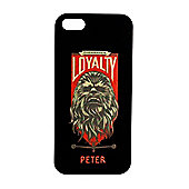 Star Wars Force Awakens Personalised iPhone 5 black Cover Chewbacca