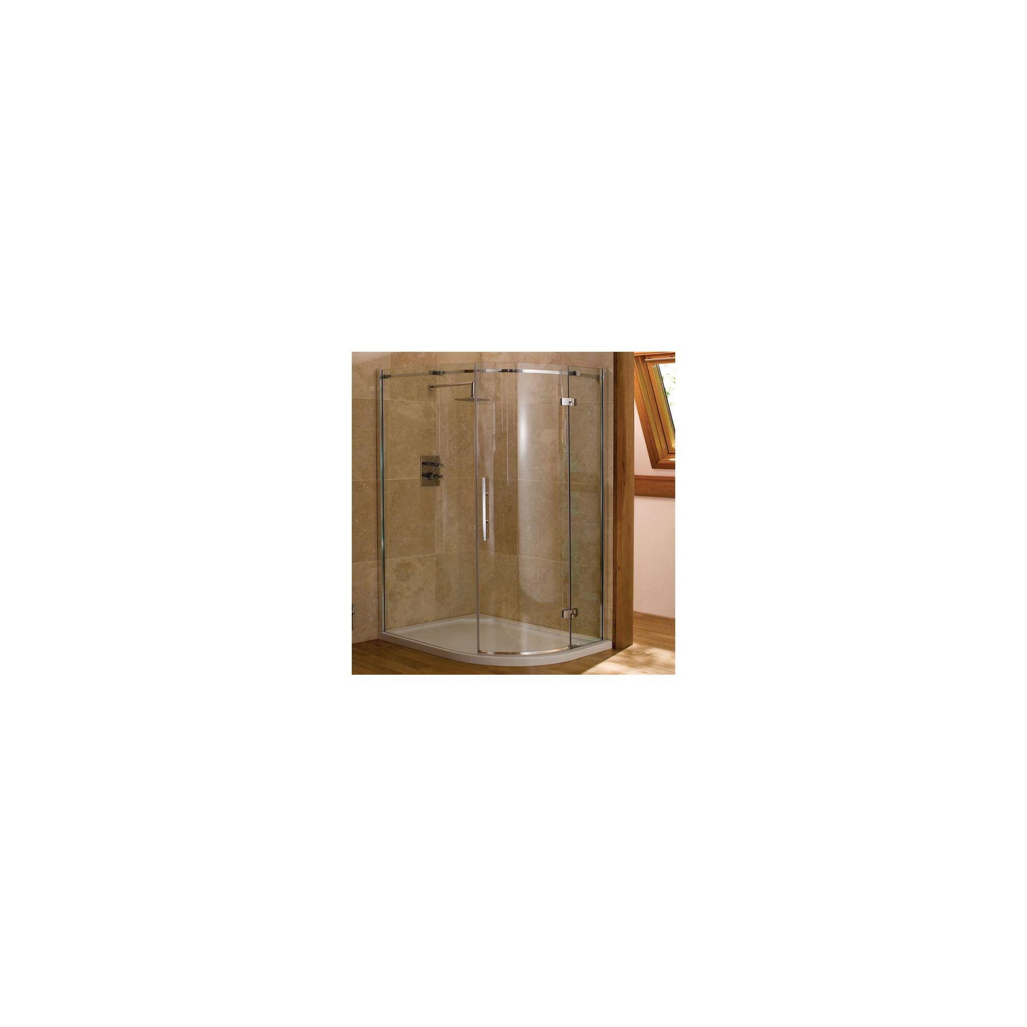Merlyn Vivid Nine Offset Quadrant Shower Door, 1200mm x 800mm, Left Handed, 8mm Glass at Tesco Direct