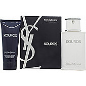 Yves Saint Laurent Kouros Gift Set 100ml EDT + 100ml Shower Gel For Men
