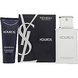 Yves Saint Laurent Kouros Gift Set 100ml EDT + 100ml Shower Gel For Men