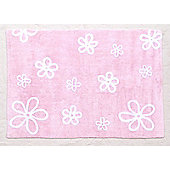Lorena Canals Flores Pink Children's Rug - 120 cm W x 160 cm D (3 ft 11 in x 5 ft 3 in)