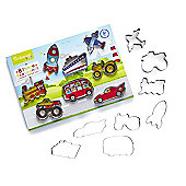 Cooksmart Kids 8 Piece Transport Cookie Cutter Set