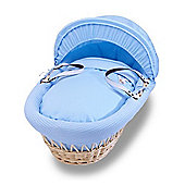 Izziwotnot Natural Gift Wicker Moses Basket (Powder Blue)