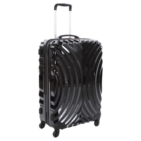 Beverly Hills Polo Club 4-Wheel Hard Shell Suitcase, Black Oyster Print Medium