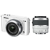 "Nikon 1 S1 Mirrorless System Digital SLR Camera, White, 10.1MP, 3"" LCD Screen,  11-27.5mm & 30-110mm Lens"